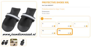 Ferplast - Protective Schoen Zwart Extra Extra Large 2 Stuks