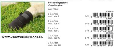 Beschermingsschoen Zwart Extra Extra Large 2 Stuks
