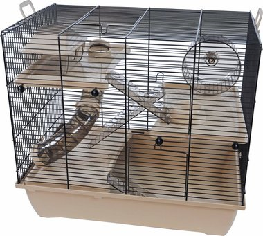 Interzoo Hamsterkooi Pinky 3 Beige