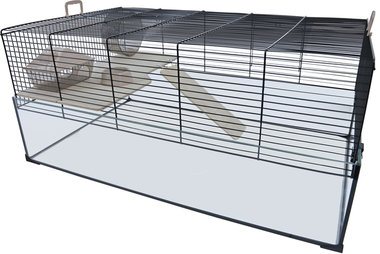 Interzoo Hamster/Gerbilkooi Vision 78 Zwart