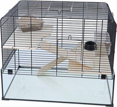Interzoo Hamster/gerbilkooi Vision 58 Zwart