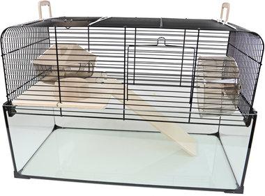 Interzoo Hamster/gerbilkooi Vision 51 Zwart