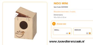 broedblok ZG1 Nido Mini 11,5 x 12,5 x 12 cm