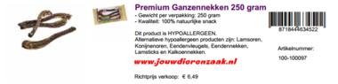Braaaf Premium Ganzennekken 250 Gram