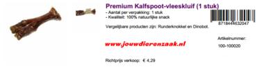 Braaaf Premium Kalfspoot Vleeskluif 500 Gram