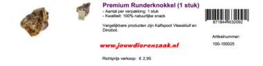 Braaaf Premium Runderknokkel 600 Gram