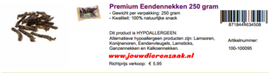 Braaaf Premium Eendennekken 250 Gram
