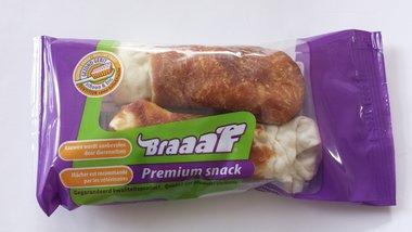 Braaaf Premium Snack Drumsticks Met Eend 2 X 12.5 CM