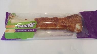 Braaaf Premium Snack Geperst Been Met Kip 20 CM