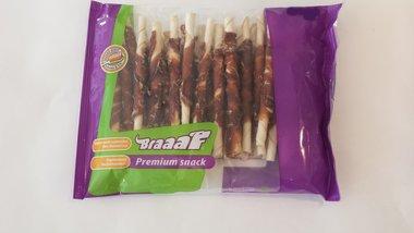 Braaaf Premium Snack Rol Sticks Met Kip 12,5 CM