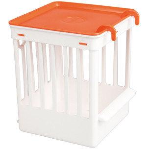 Tralie Kastje Plastic wit - Oranje