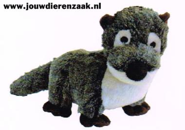 Hondenspeelgoed Pluche Otter met Piep 29 Cm