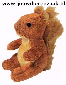 Hondenspeelgoed Pluche Mini Eekhoorn 14 Cm