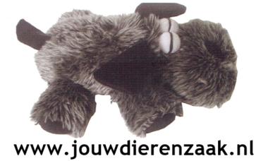 Hondenspeelgoed Pluche Soft Hond Grijs 22 Cm