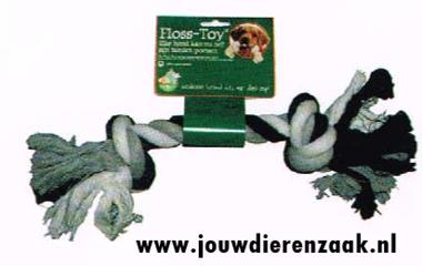 Hondenspeelgoed Floss-Toy Zwart/Wit Groot