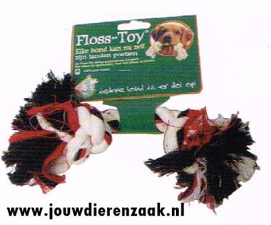 Hondenspeelgoed Floss-Toy Gekleurd Klein