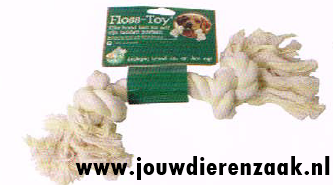 Hondenspeelgoed Floss-Toy Wit Middel