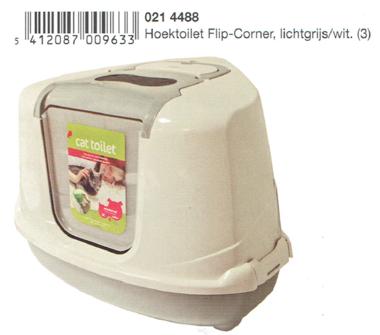 Hoektoilet Flip Corner Lichtgrijs-Wit