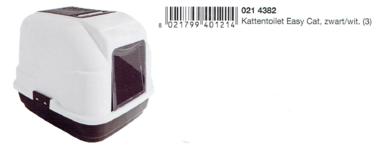 Imac Kattentoilet Easy Cat Zwart-Wit