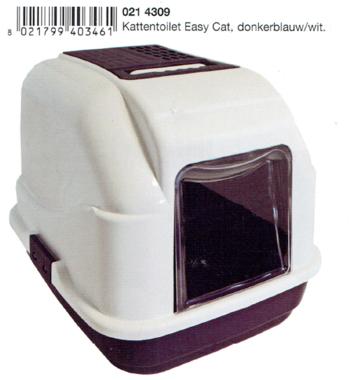 Imac Kattentoilet Easy Cat Donkerblauw-Wit