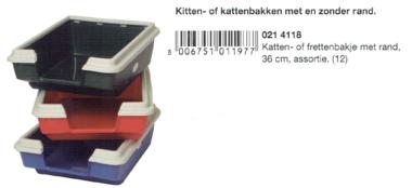 Kattenbakje met rand 36 CM Assorti