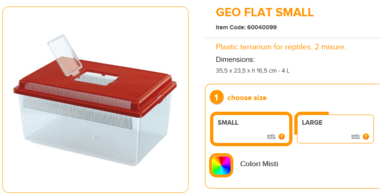 Geo Flat Small 35.5x23.5x16.5cm 4 Liter Mixed Colours