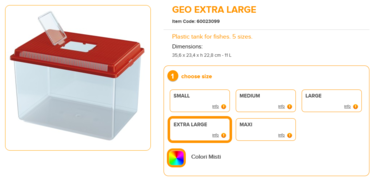 Geo Extra Large 35.6x23.4x22.8cm 11 Liter Mixed Colours