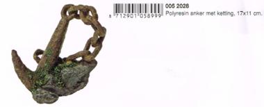 Polyresin Anker met Ketting 17x11 CM