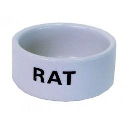 Ratten Eetbak Steen Wit 10 Cm