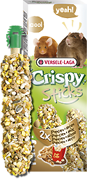 Versele-Laga Crispy Sticks Ratten-Muizen Popcorn & Noten 2 X 55 Gram