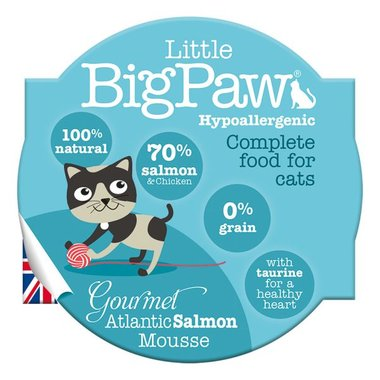 Little Big Paw malse atlantische zalm mousse kattenvoer