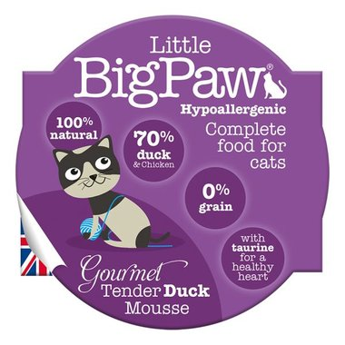 Little Big Paw malse eend mousse kattenvoer