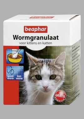 Beaphar Wormgranulaat Kittens en Katten 4x 1g