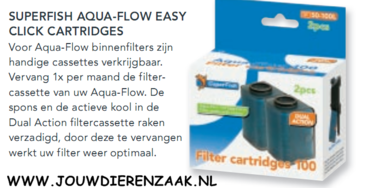 SuperFish - Aqua-Flow 200 Filter Easy Click Cassette 1 stuks