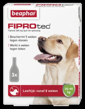 Beaphar Fiprotec Spot-On hond 20-40 kg 3 pipetten