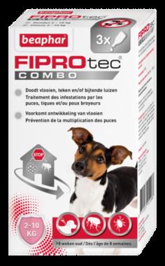 Beaphar Fiprotec combo hond 2-10 kg