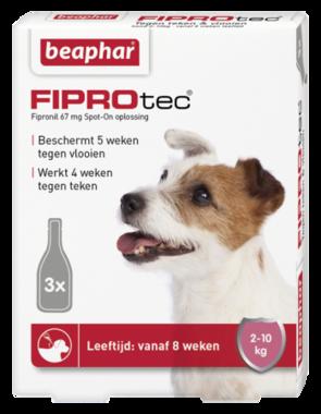 Beaphar Fiprotec Spot-On hond 2-10 kg 3 pipetten