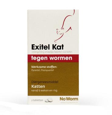 No Worm Exitel kat 2 tabletten vanaf 6 weken en 1 kg