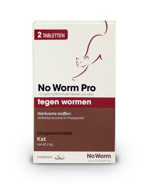 No Worm Pro 2 tabletten vanaf 2 kg