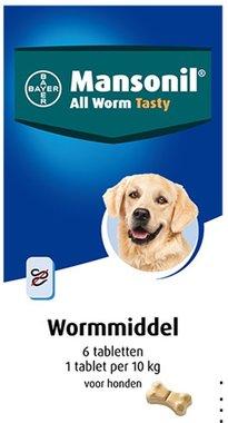 Bayer Mansonil Wormmiddel hond 6 tabletten