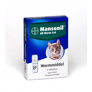 Bayer Mansonil All Worm Cat 4 tabletten