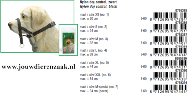 Dog Control Extra Small Maat 1 (Max 20 cm)