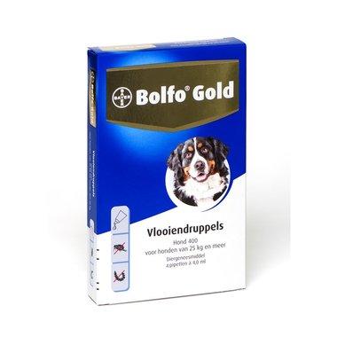 Bolfo Gold Hond 400 4 Pipetten