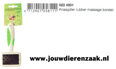 Rubber Massage Borstel voor Knaagdier