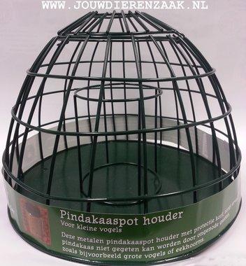 Metalen Pindakaaspot Houder voor de Kleine Vogel 25 x 19 cm
