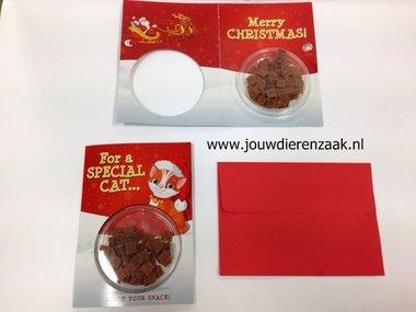 Proline - proline kerstkaart kat met eend bites 20 g.incl enveloppe