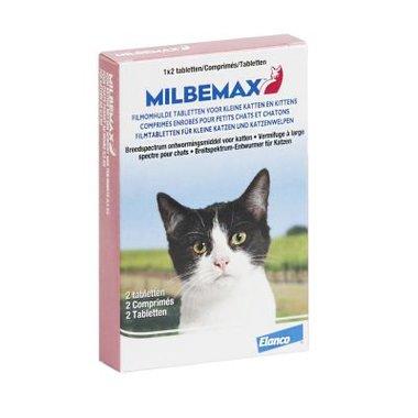 Milbemax tabletten voor kleine katten en kittens 2 stuks