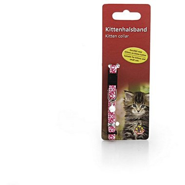 Beeztees kittenhalsband roze/wit