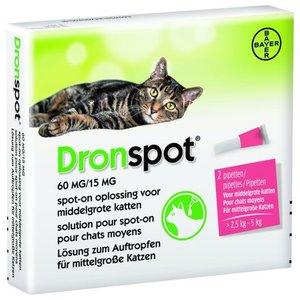 Dronspot Spot-On Kat 2,5-5kg anit-wormenmiddel 2pip