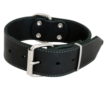Jack and Vanilla Vetleder Brede Halsband Zwart